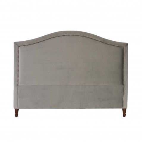 Block & Chisel silver upholstered king size headboard
