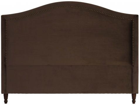 Block & Chisel brown upholstered king size headboard