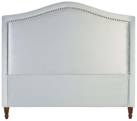 Block & Chisel light blue upholstered queen size headboard