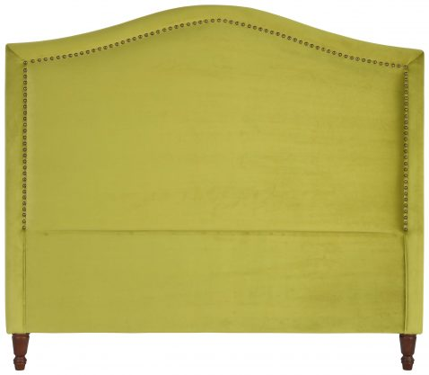 Block & Chisel green upholstered queen size headboard
