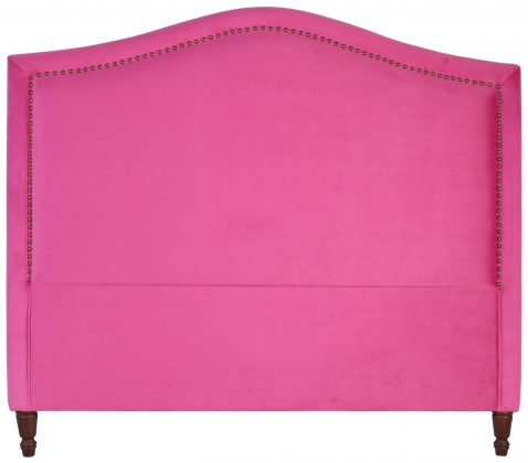 Block & Chisel pink upholstered queen size headboard
