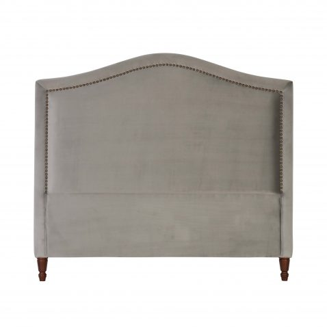 Block & Chisel silver upholstered queen size headboard