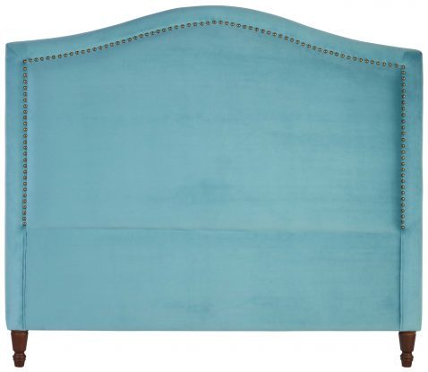 Block & Chisel blue upholstered queen size headboard