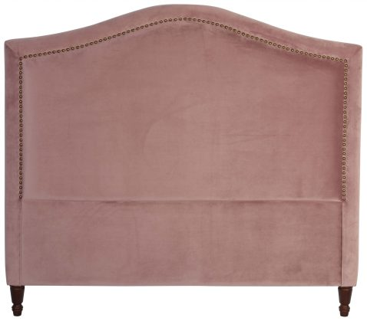 Block & Chisel mink upholstered queen size headboard