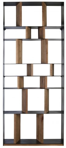 Block & Chisel Old Fir wood bookshelf with metal frame