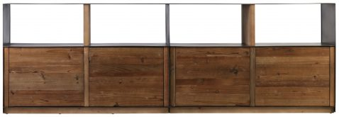 Block & Chisel Old Fir wood TV unit with metal frame