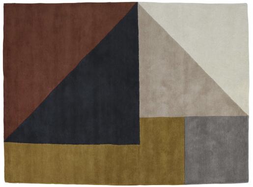 Block & Chisel multi-coloured wool rug