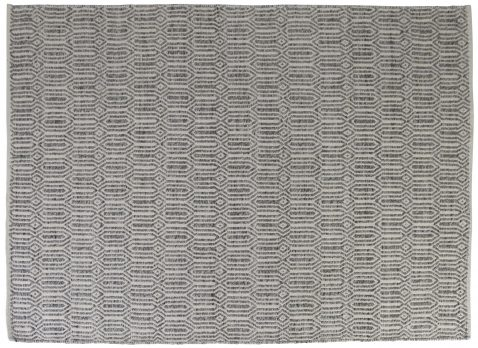 Block & Chisel rug with pattern detail