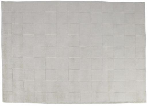 Block & Chisel cream square detailed wool rug