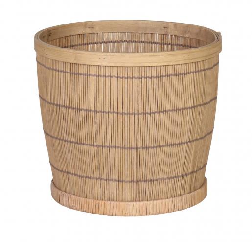 Small Edwina Basket - bamboo round basket