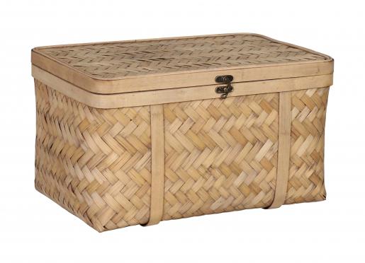 Mary Ann Bamboo Basket - Medium - storage container