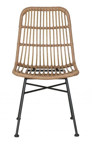 plastic rattan outdoor dining chair
