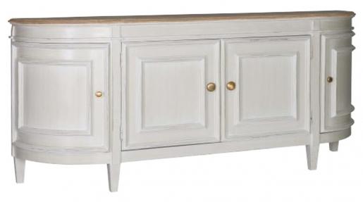 4 door sideboard with legs in vanilla white