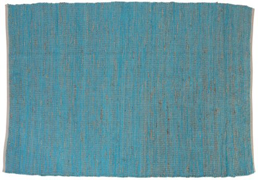 Block & Chisel natural and blue carpet