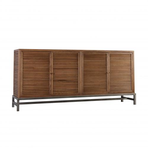 louvred sideboard on metal base