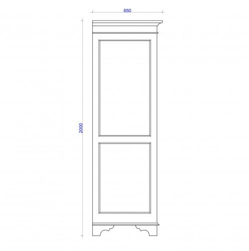 Block & Chisel double door solid weathered oak wardrobe
