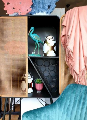 Block & Chisel Industrial Style Art Deco Cabinet cupboard drinks