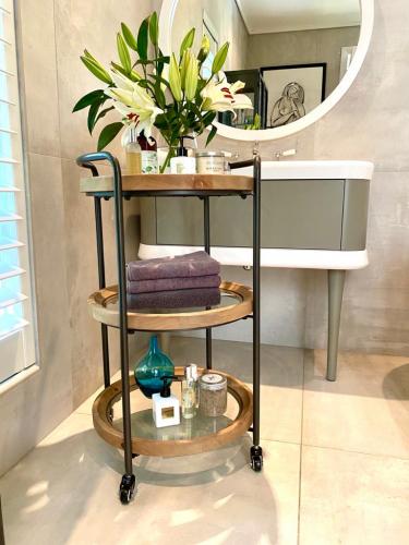 Block & Chisel Industrial Style bathroom trolley side table on castors