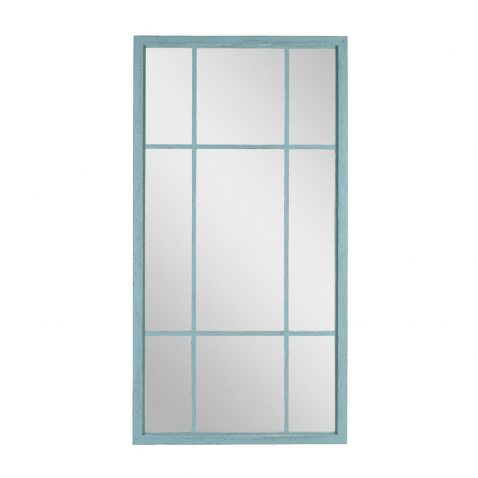 block and chisel mirror with green frame