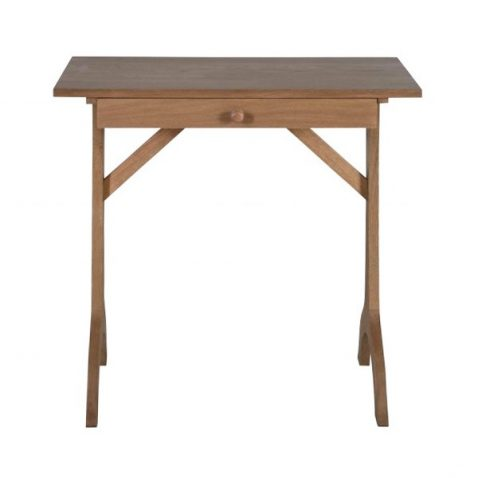 block and chisel compact desk in old oak