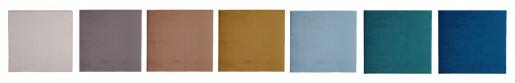 slipcover headboard in Nordic velvet