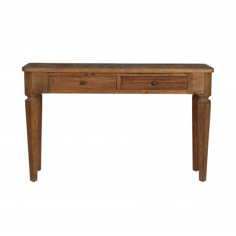 elm console with 2 drawers