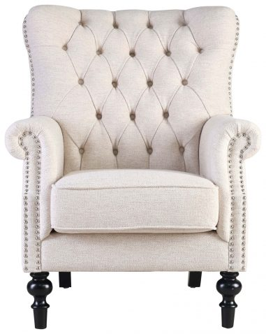Block & Chisel beige upholstered occasional chair