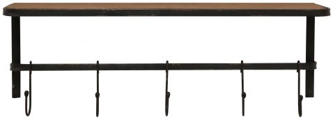 Block & Chisel fir wood wall rack with iron base