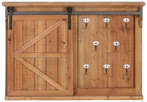 Block & Chisel fir wood wall decor with hooks