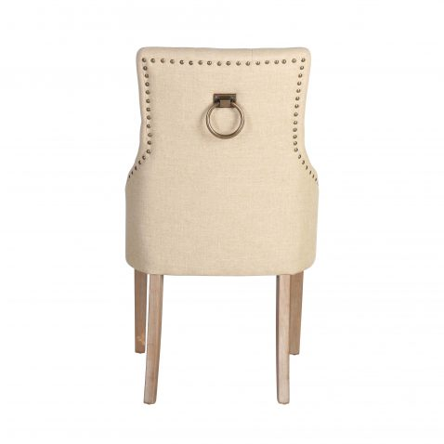 Block & Chisel linen upholstered dining chair