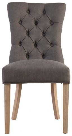 Block & Chisel grey linen upholstered dining chair