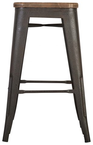 Block & Chisel old elm barstool with iron egs