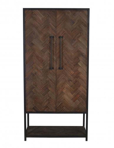 2 door par wood and metal