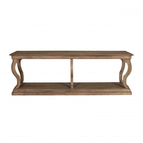 reclaimed oak console