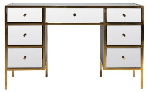 mirrored vanity table or writing desk from Block & Chisel.