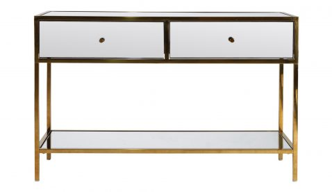 mirror console with two drawers