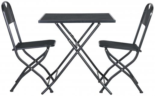 Block & Chisel grey metal outdoor cafe set