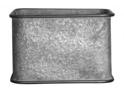 Block & Chisel galvanized zinc pot