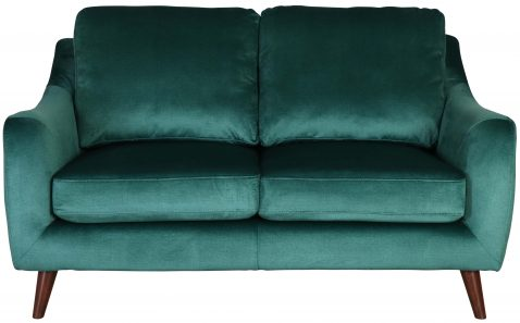 Block & Chisel green velvet upholstered 2 seater sofa