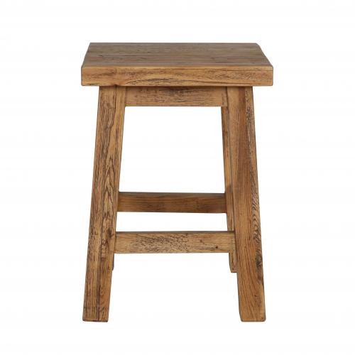 Square Elm stool