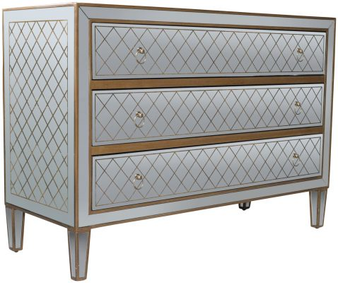Block & Chisel mirrored chest of drawer