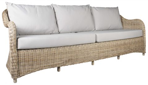Block & Chisel rattan 3.5 seater outdoor sofa