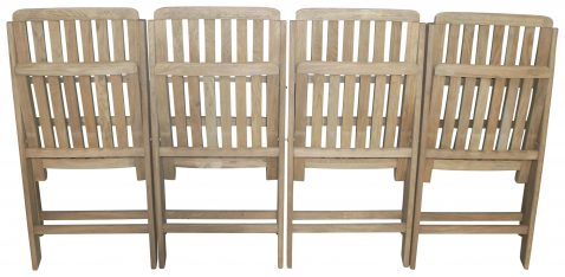 Block & Chisel weathered oak folding dining chair