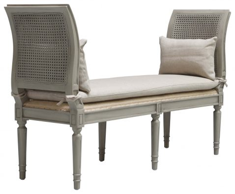 Block & Chisel cream linen upholstered daybed with side arms