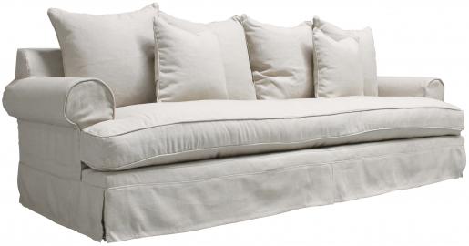 Block & Chisel beige linen upholstered sofa