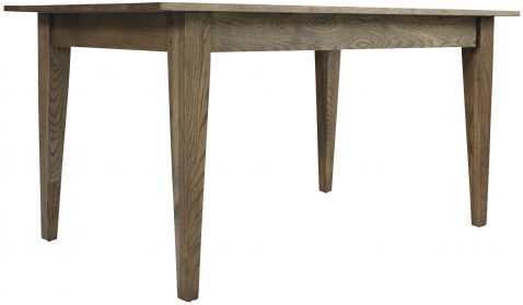 Block & Chisel solid antique weathered oak dining table