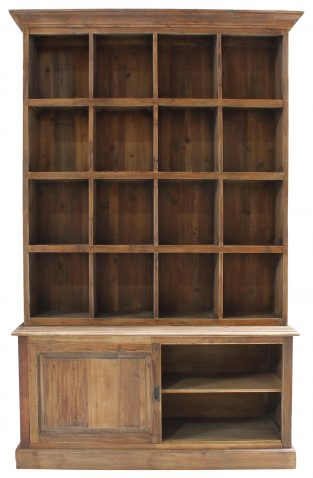 Block & Chisel 2 part recycled pine display cabinet