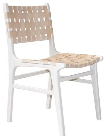Block & Chisel leather weaved dining chair