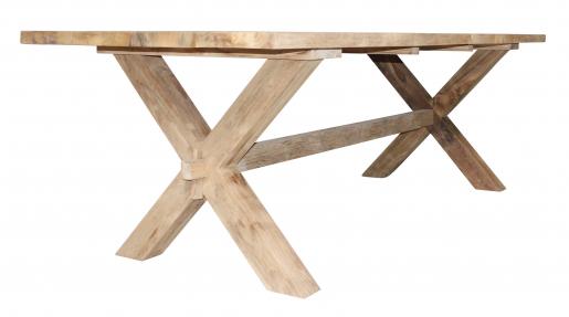 Block & Chisel natural teak dining table
