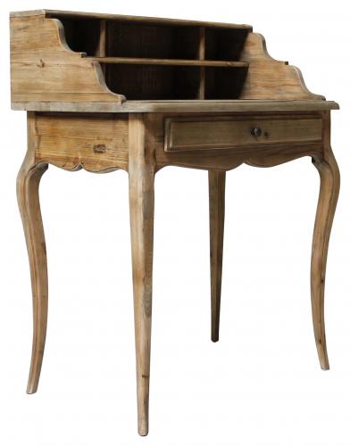 Block & Chisel small bleached elm desk
